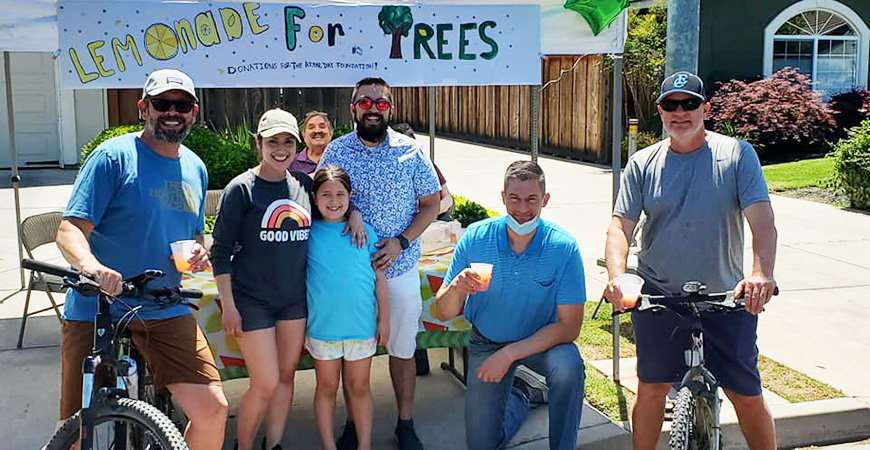 With the support of Mayor Matthew Serratto and others, Adison Martinez's lemonade stand raised more than $1,000 to buy trees for Rahilly Park.