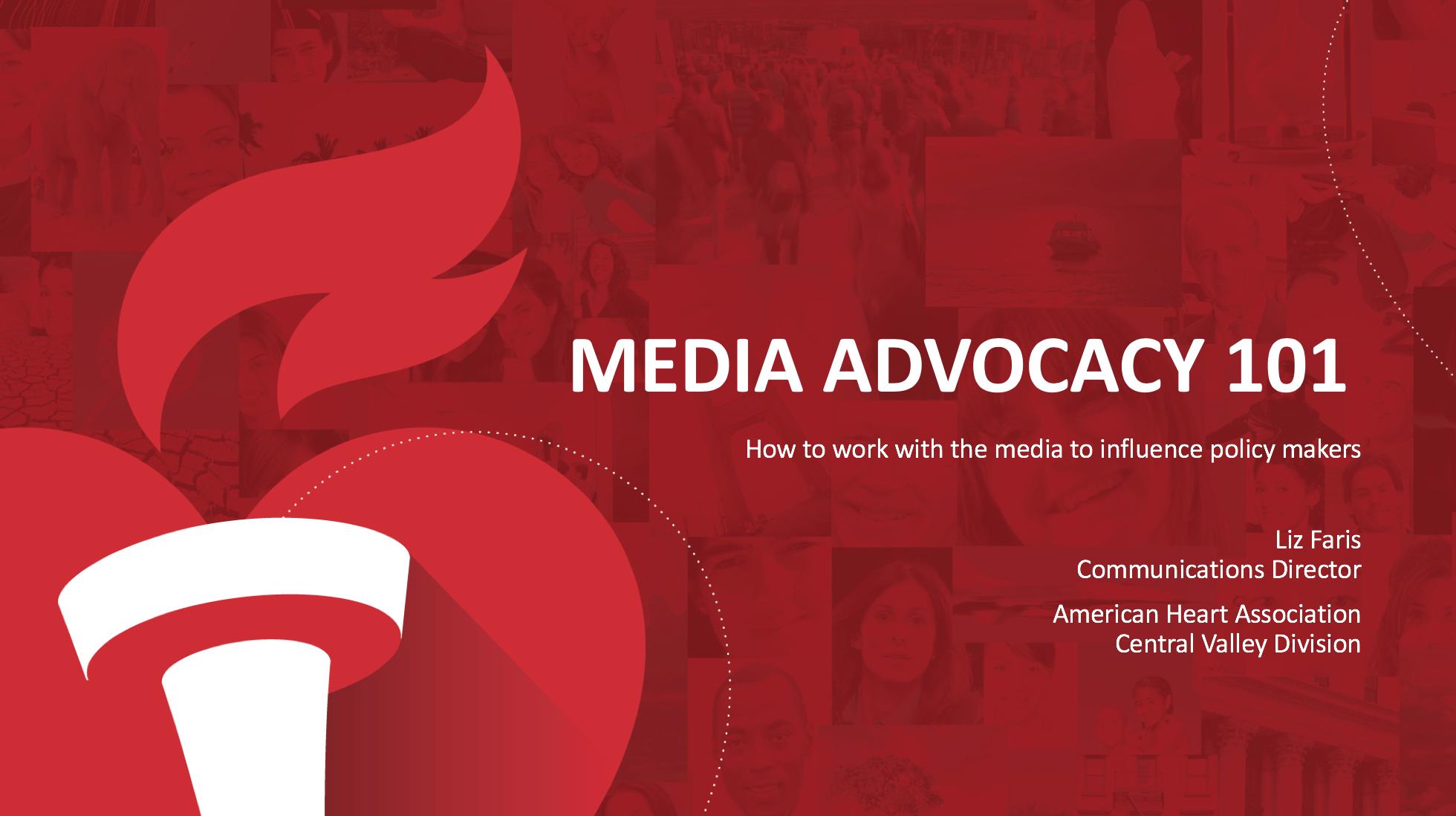 AHA NCPC Media Advocacy