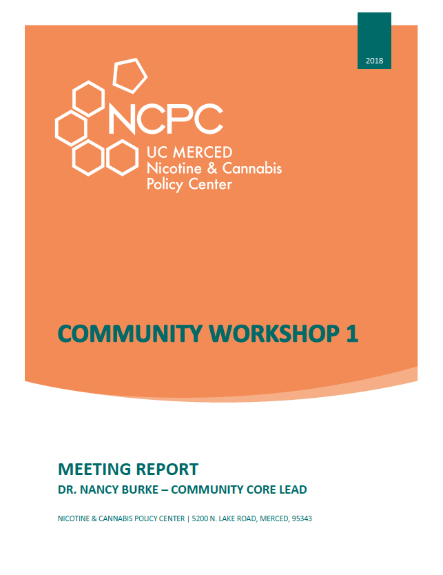 NCPC Community Workshop Report 1